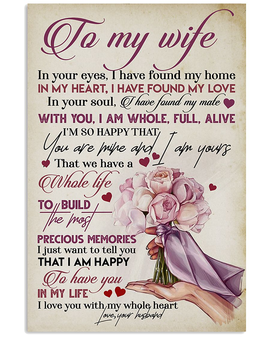 TO MY WIFE - ROSE - I LOVE YOU 16x24 Poster