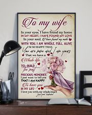 TO MY WIFE - ROSE - I LOVE YOU 16x24 Poster lifestyle-poster-2