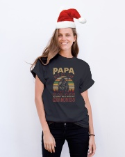 Papa Not as lean But still as mean Classic T-Shirt lifestyle-holiday-crewneck-front-1