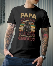 Papa Not as lean But still as mean Classic T-Shirt lifestyle-mens-crewneck-front-6