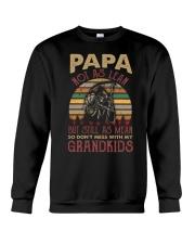 Papa Not as lean But still as mean Crewneck Sweatshirt thumbnail