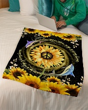 """DOLPHIN - SUNFLOWER - YOU ARE MY SUNSHINE Small Fleece Blanket - 30"""" x 40"""" aos-coral-fleece-blanket-30x40-lifestyle-front-07"""