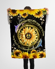 """DOLPHIN - SUNFLOWER - YOU ARE MY SUNSHINE Small Fleece Blanket - 30"""" x 40"""" aos-coral-fleece-blanket-30x40-lifestyle-front-14"""