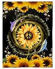 """DOLPHIN - SUNFLOWER - YOU ARE MY SUNSHINE Small Fleece Blanket - 30"""" x 40"""" front"""