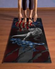 Independence Day - Dinosaur - Yoga Mat Yoga Mat 24x70 (vertical) aos-yoga-mat-lifestyle-26