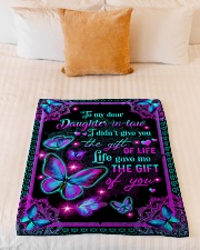"To My Daughter-in-law - Galaxy Butterfly  Small Fleece Blanket - 30"" x 40"" aos-coral-fleece-blanket-30x40-lifestyle-front-04"