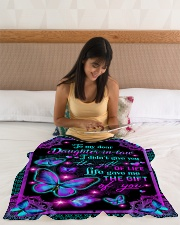 "To My Daughter-in-law - Galaxy Butterfly  Small Fleece Blanket - 30"" x 40"" aos-coral-fleece-blanket-30x40-lifestyle-front-12"
