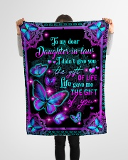 "To My Daughter-in-law - Galaxy Butterfly  Small Fleece Blanket - 30"" x 40"" aos-coral-fleece-blanket-30x40-lifestyle-front-14"