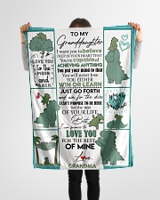 "GRANDMA TO GRANDDAUGHTER- T REX - WIN OR LEARN Small Fleece Blanket - 30"" x 40"" aos-coral-fleece-blanket-30x40-lifestyle-front-14"