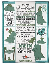 "GRANDMA TO GRANDDAUGHTER- T REX - WIN OR LEARN Small Fleece Blanket - 30"" x 40"" front"