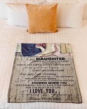 """To Daughter - Don't Let Today's Troubles  Small Fleece Blanket - 30"""" x 40"""" aos-coral-fleece-blanket-30x40-lifestyle-front-04"""