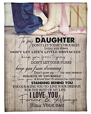 """To Daughter - Don't Let Today's Troubles  Small Fleece Blanket - 30"""" x 40"""" front"""