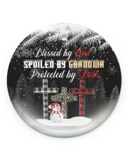 Grandma - Blessed By God Spoiled By Grandma Circle ornament - single (porcelain) front