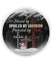 Grandma - Blessed By God Spoiled By Grandma Circle Ornament (Wood tile