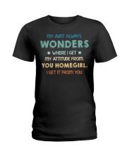 My aunt always wonders Ladies T-Shirt thumbnail