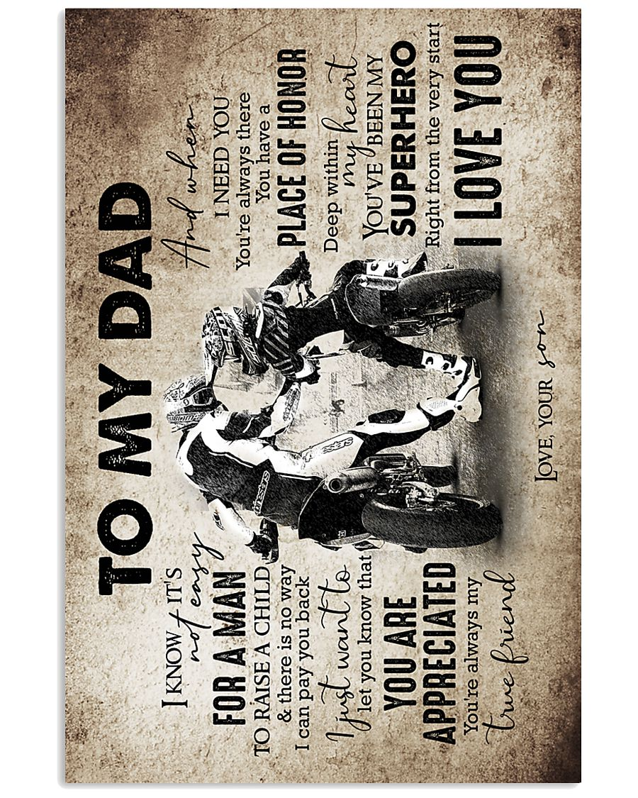 To My Dad - Motorbike - Poster 16x24 Poster