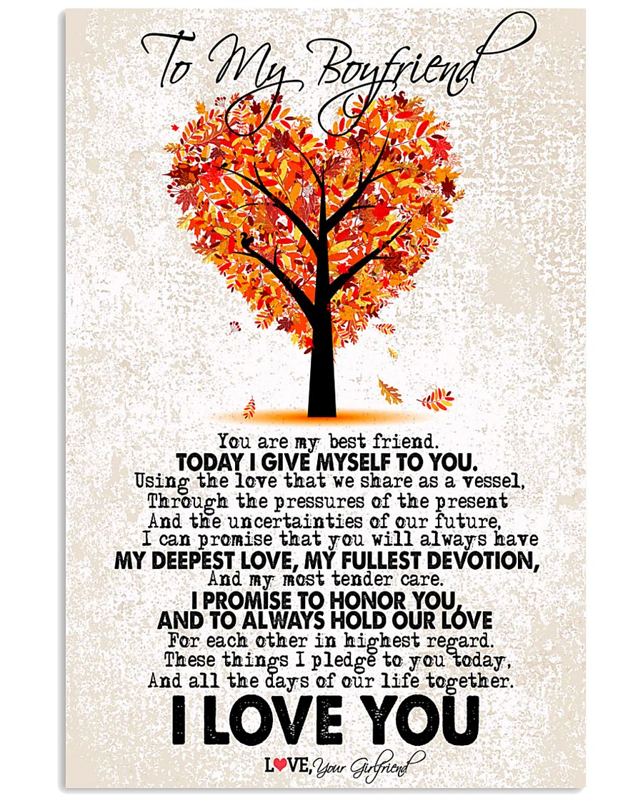TO MY BOYFRIEND 16x24 Poster