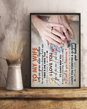 TO MY WIFE - HAND IN HAND - I LOVE YOU 16x24 Poster lifestyle-poster-3