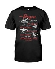 FRENCH VERS - TO DAD -TU ES MON DINOSAURE PRÉFÉRÉ Classic T-Shirt front