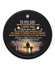 Taking Hands - Personalized Circle Ornament Circle ornament - single (porcelain) front