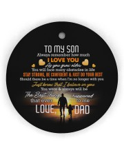 Taking Hands - Personalized Circle Ornament Circle Ornament (Wood tile