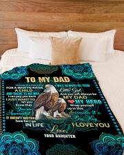 """To my Dad - Fleece Blanket Large Fleece Blanket - 60"""" x 80"""" aos-coral-fleece-blanket-60x80-lifestyle-front-02"""
