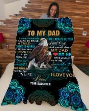 """To my Dad - Fleece Blanket Large Fleece Blanket - 60"""" x 80"""" aos-coral-fleece-blanket-60x80-lifestyle-front-04"""