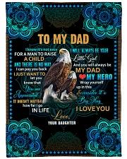 """To my Dad - Fleece Blanket Large Fleece Blanket - 60"""" x 80"""" front"""