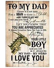 TO MY DAD - DRAGON - MY HERO 16x24 Poster front