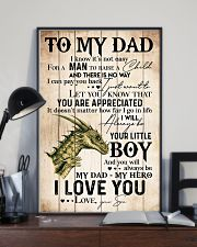 TO MY DAD - DRAGON - MY HERO 16x24 Poster lifestyle-poster-2