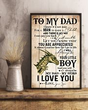 TO MY DAD - DRAGON - MY HERO 16x24 Poster lifestyle-poster-3