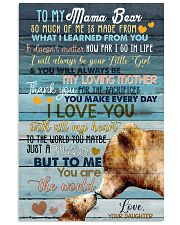 DAUGHTER TO MAMA BEAR 16x24 Poster front