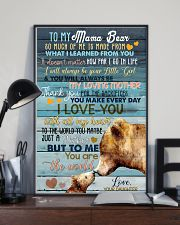 DAUGHTER TO MAMA BEAR 16x24 Poster lifestyle-poster-2