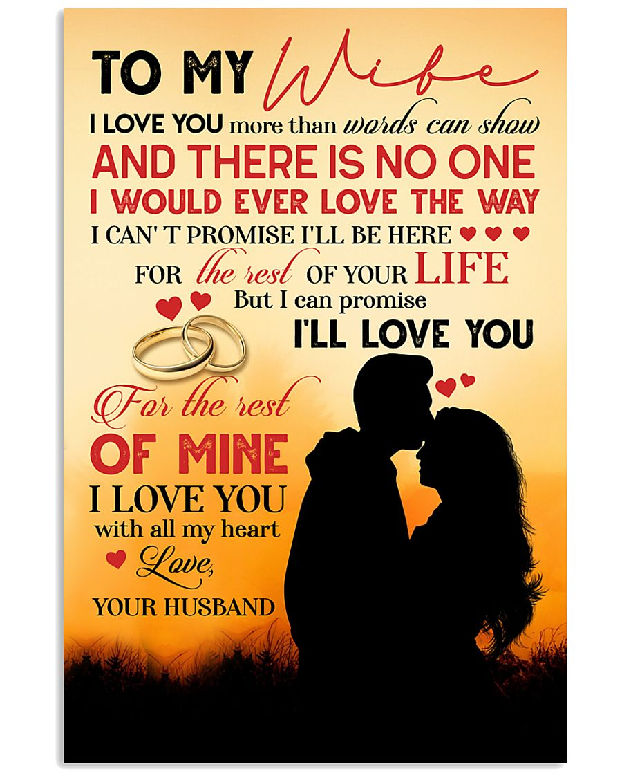 TO MY WIFE - COUPLE - I LOVE YOU 16x24 Poster