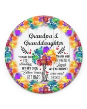Granddaughter - Thanh You For Standing By My Side Circle ornament - single (porcelain) front