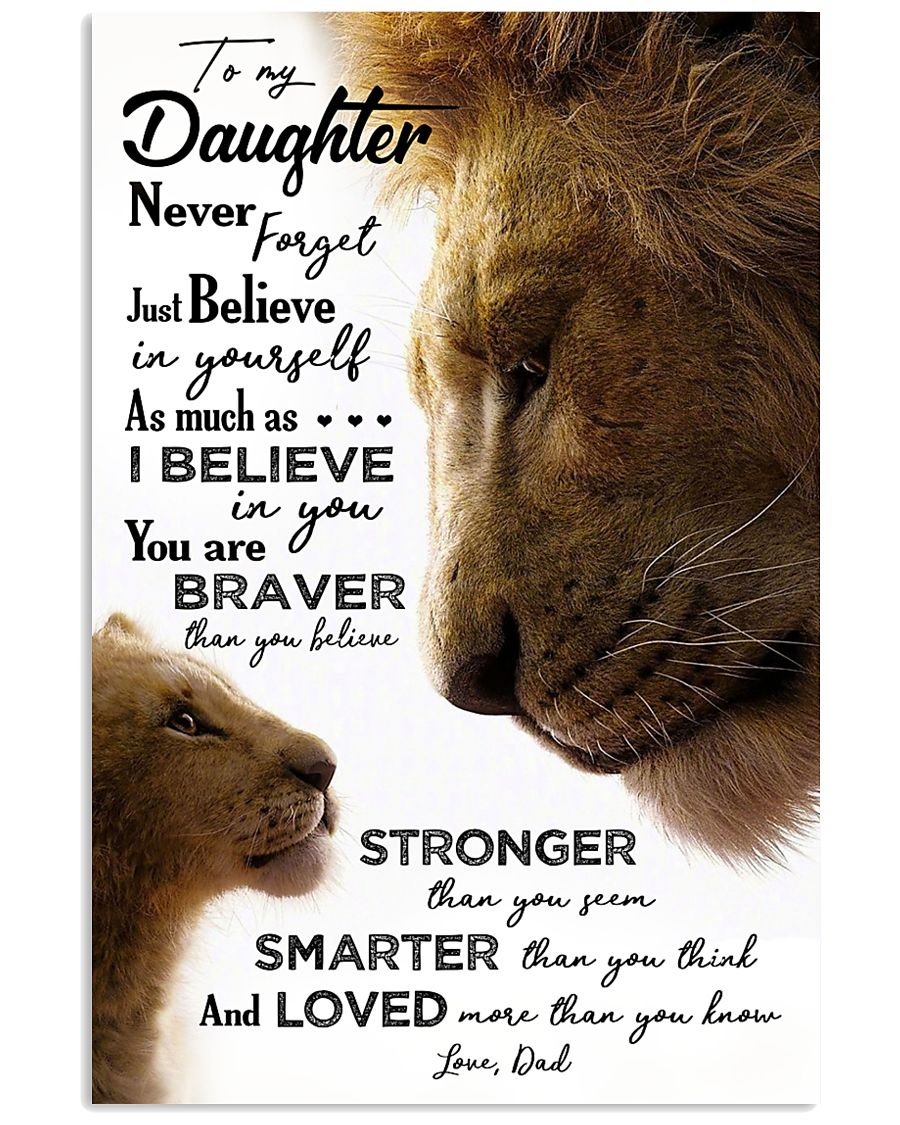 POSTER - TO MY DAUGHTER - LION - JUST BELIEVE 16x24 Poster