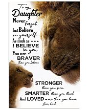 POSTER - TO MY DAUGHTER - LION - JUST BELIEVE 16x24 Poster front