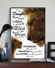 POSTER - TO MY DAUGHTER - LION - JUST BELIEVE 16x24 Poster lifestyle-poster-2