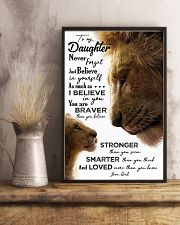 POSTER - TO MY DAUGHTER - LION - JUST BELIEVE 16x24 Poster lifestyle-poster-3