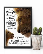 POSTER - TO MY DAUGHTER - LION - JUST BELIEVE 16x24 Poster lifestyle-poster-8