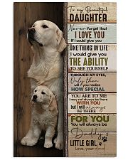 To My Daughter - Golden - Never Forget That 11x17 Poster thumbnail