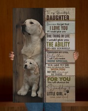 To My Daughter - Golden - Never Forget That 20x30 Gallery Wrapped Canvas Prints aos-canvas-pgw-20x30-lifestyle-front-22