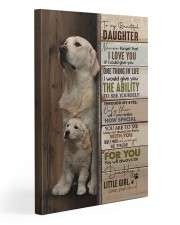 To My Daughter - Golden - Never Forget That 20x30 Gallery Wrapped Canvas Prints front