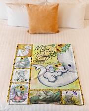 """FLEECE BLANKET - TO MY MOM - ELEPHANT Small Fleece Blanket - 30"""" x 40"""" aos-coral-fleece-blanket-30x40-lifestyle-front-04"""