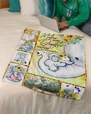 """FLEECE BLANKET - TO MY MOM - ELEPHANT Small Fleece Blanket - 30"""" x 40"""" aos-coral-fleece-blanket-30x40-lifestyle-front-07"""