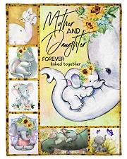 """FLEECE BLANKET - TO MY MOM - ELEPHANT Small Fleece Blanket - 30"""" x 40"""" front"""