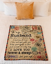 """TO MY HUSBAND - VINTAGE - I LOVE YOU Small Fleece Blanket - 30"""" x 40"""" aos-coral-fleece-blanket-30x40-lifestyle-front-04"""