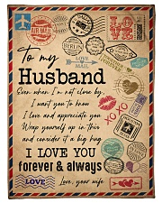 """TO MY HUSBAND - VINTAGE - I LOVE YOU Small Fleece Blanket - 30"""" x 40"""" front"""