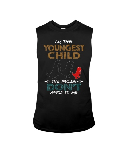 T-SHIRT - T REX - RULES - YOUNGEST CHILD