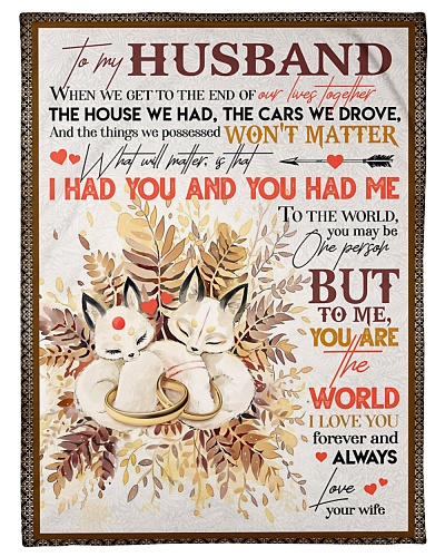 TO MY HUSBAND - FOX - I LOVE YOU